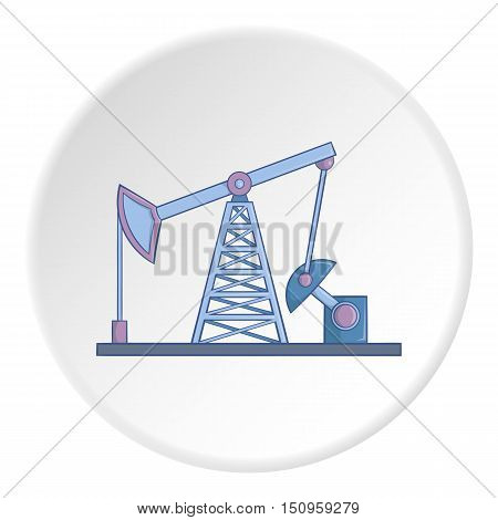 Oil rig icon. Cartoon illustration of oil rig vector icon for web