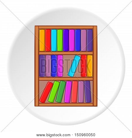 Shelf of books icon. Cartoon illustration of shelf of books vector icon for web