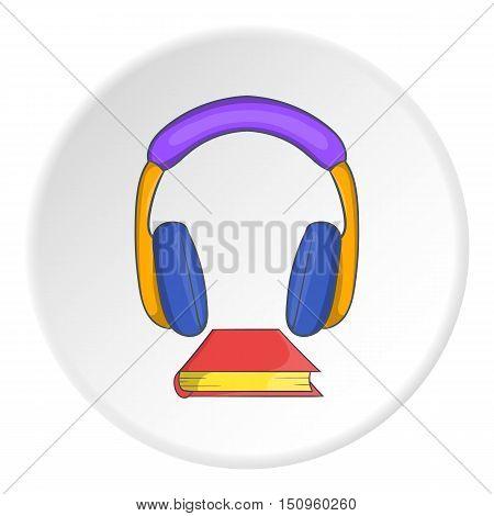 Audio book icon. Cartoon illustration of audio book vector icon for web