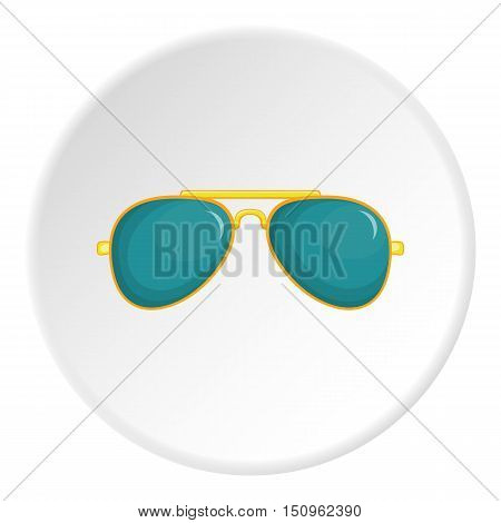 Glasses icon. Cartoon illustration of glasses vector icon for web