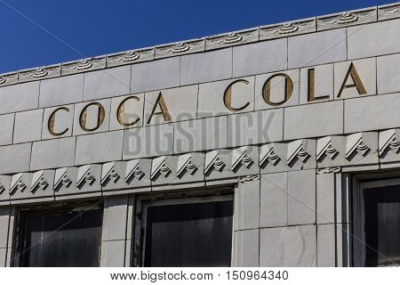 Indianapolis - Circa October 2016: The Former Coca-cola Bottling Plant With Art Deco Features. The C