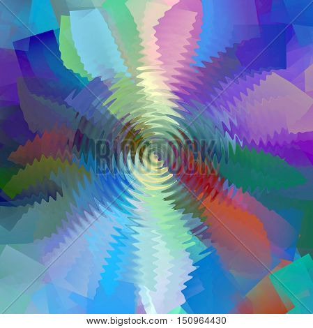 Abstract coloring background of the horizon gradient with visual lighting,cubism,pinch and zigzag effects.Good for your project design