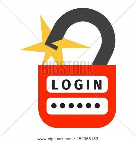 Internet security safety icon. Virus attack vector icon. Internet data protection security. Technology network IT security concept icon infographic design element