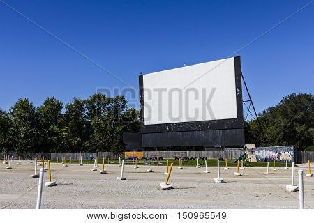 Old Time Drive-in Movie Theater With Outdoor Screen And Playground Ii