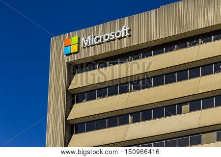 Indianapolis - Circa October 2016: Microsoft Midwest District Headquarters IV