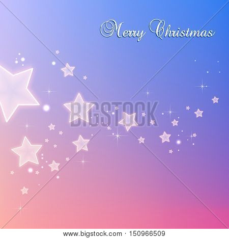 Shiny Xmas stars for Merry Christmas celebration on color background with light dots stars. Vector eps illustration