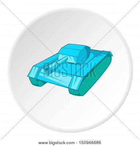 Tank icon. Cartoon illustration of tank vector icon for web