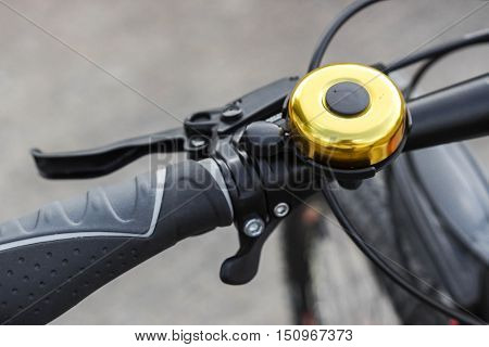 A Bicycle bell / Bicycle equipment / Part of bicycle