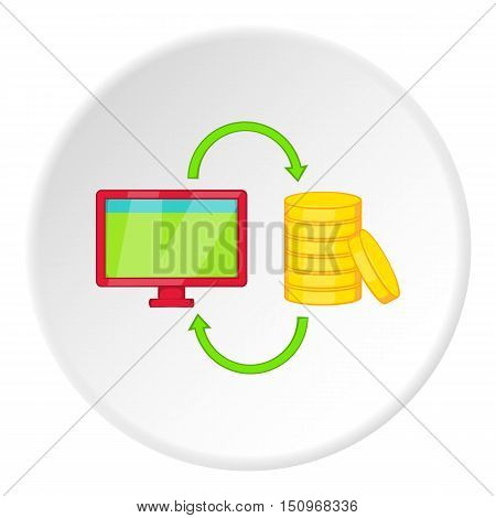 Online earnings icon. Cartoon illustration of online earnings vector icon for web
