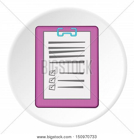 Diagnosis on paper icon. Cartoon illustration of diagnosis on paper vector icon for web