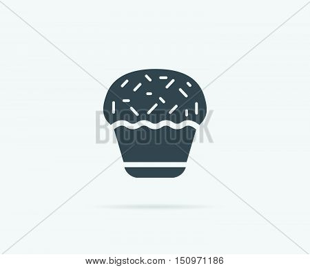 Cake Cupcake Cream Vector Element Or Icon, Illustration Ready For Print Or Plotter Cut Or Using As L