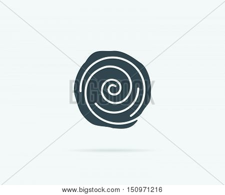 Cinnamon Bun Roll Vector Element Or Icon, Illustration Ready For Print Or Plotter Cut Or Using As Lo