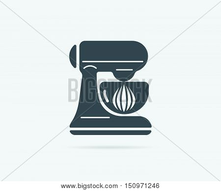 Planetary Mixer With Bowl Vector Element Or Icon, Illustration Ready For Print Or Plotter Cut Or Usi