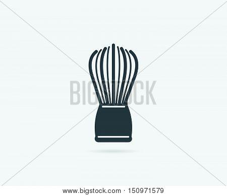 Badger Shaving Brush Or Neck Duster Wet Shaving Vector Element Or Icon, Illustration Ready For Print