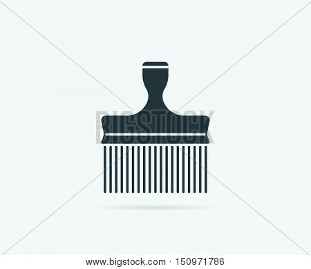 Comb Or Hairbrush Long Vector Element Or Icon, Illustration Ready For Print Or Plotter Cut Or Using