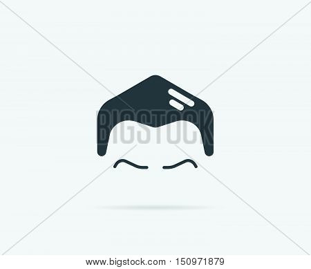 Haircut Style Brioline Grease Vector Element Or Icon, Illustration Ready For Print Or Plotter Cut Or