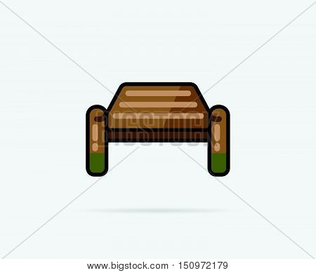 Vector Illustration Of Bollard Can Be Used As Logo Or Icon