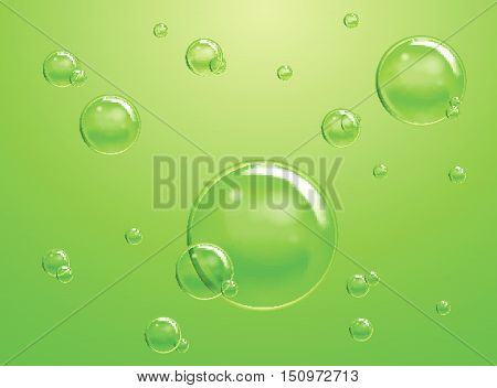 Set Of Vector Soap Water Bubbles. Transparent Isolated Realistic Design Elements. Can Be Used With A