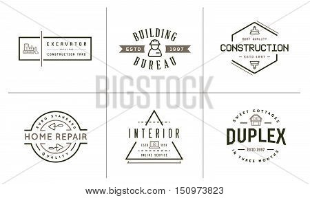 Set Of Vector Construction Building Icons Home And Repair Can Be Used As Logo Or Icon In Premium Qua