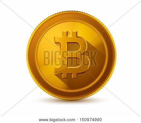 bitcoin icon isoladed on white background. Vector illustration