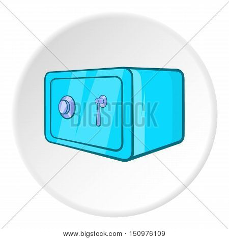 Safety deposit box icon. Cartoon illustration of safety deposit box vector icon for web