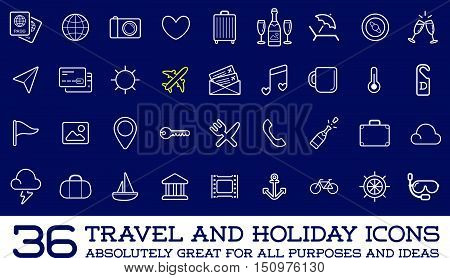 Travel Icons Vector Set, Great For All Purposes Like Print Web Or Mobile Apps Collection