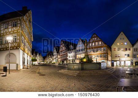Leonberg Stuttgart Germany Marktplatz Winter October 2016 Village Europe Travel Destination Architecture Rathaus Marketplace