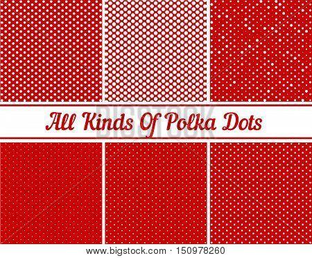 Polka Dot Round Background Set eps 10