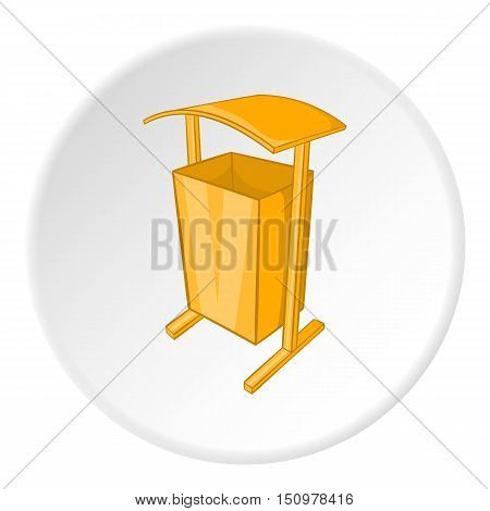 Dustbin for public spaces icon. Cartoon illustration of dustbin for public spaces vector icon for web
