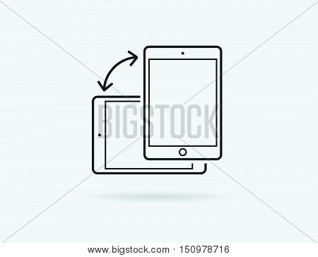 Rotate Smartphone Or Cellular Phone Or Tablet Icons In Vector