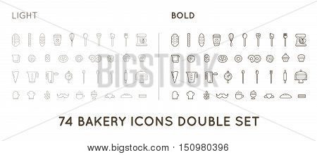Set Of Vector Bakery Pastry Elements And Bread Icons Illustration Can Be Used As Logo Or Icon In Pre