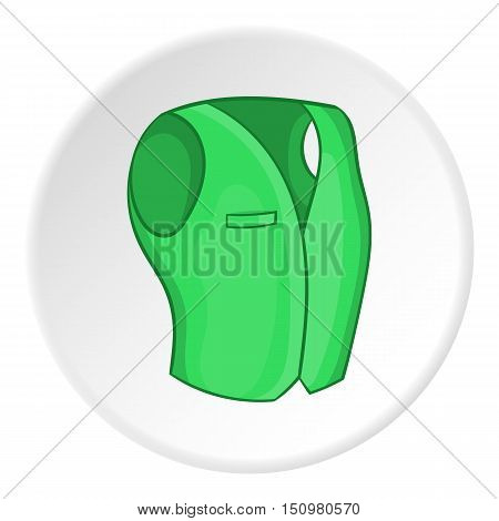 Men classic vest icon. Cartoon illustration of men classic vest vector icon for web