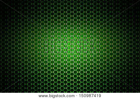 green chrome metallic mesh. metal background and texture. 3d illustration.