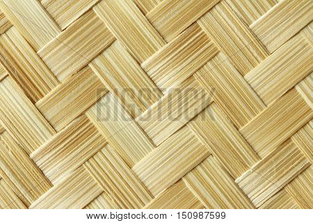 Bamboo Strip Interwoven Texture Natural Bankground close up