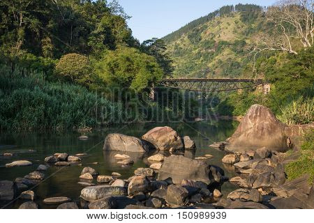 Ulapane Bridge (Fool's bridge) , Sri Lanka. Built in British colony era, locals say fool's bridge for its upside down look. Yet it's standing still.