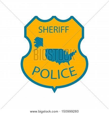 Sheriff police badge illustration on the white background. Vector illustration