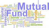 Word cloud concept illustration of  mutual fund poster