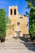 Sant Pere Church in the village of Pals in Catalonia Spain poster
