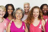 Breast Cancer Cells Tumor Female Women Concept poster