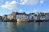 Custom House Quay at Weymouth Harbour, Dorset poster