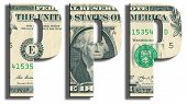 PPP - Purchasing Power Parity. US Dollar texture. poster