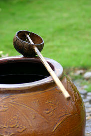 Coconut Shell Dipper And Jar