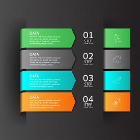Modern infographics business design options banner.Vector illustration.