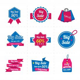 Set of sale banner business. Sale Labels.vector illustration