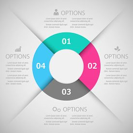 Infographic design template and marketing icons Business concept with 4 options.