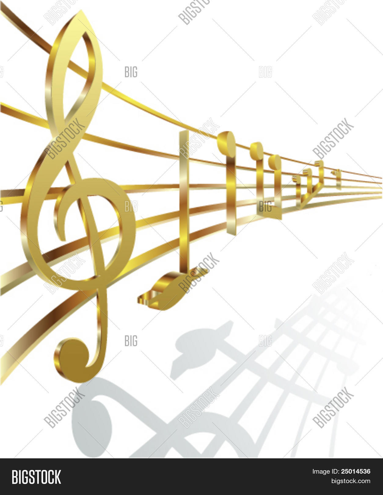 Golden Musical Notes Vector & Photo (Free Trial) | Bigstock