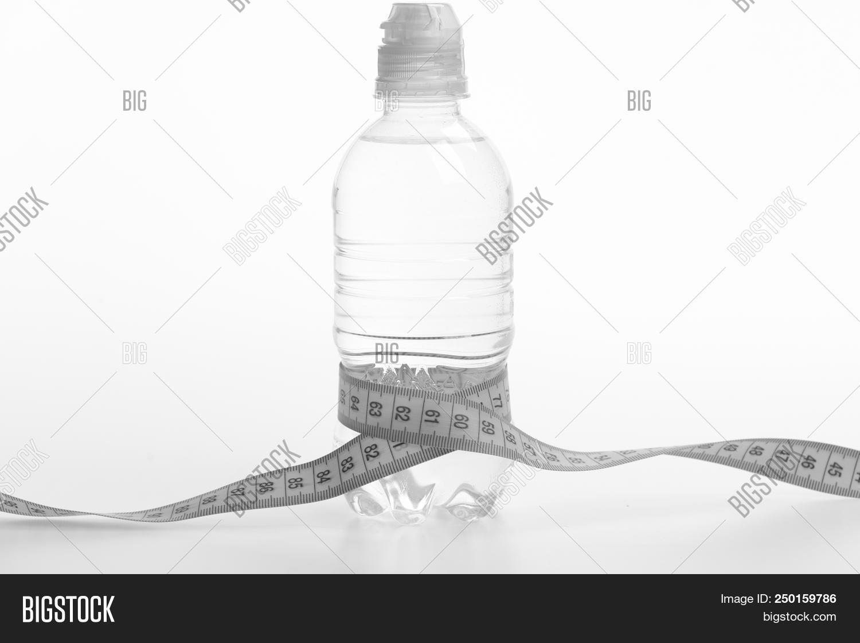 Water Bottle Tied Cyan Image Photo Free Trial Bigstock