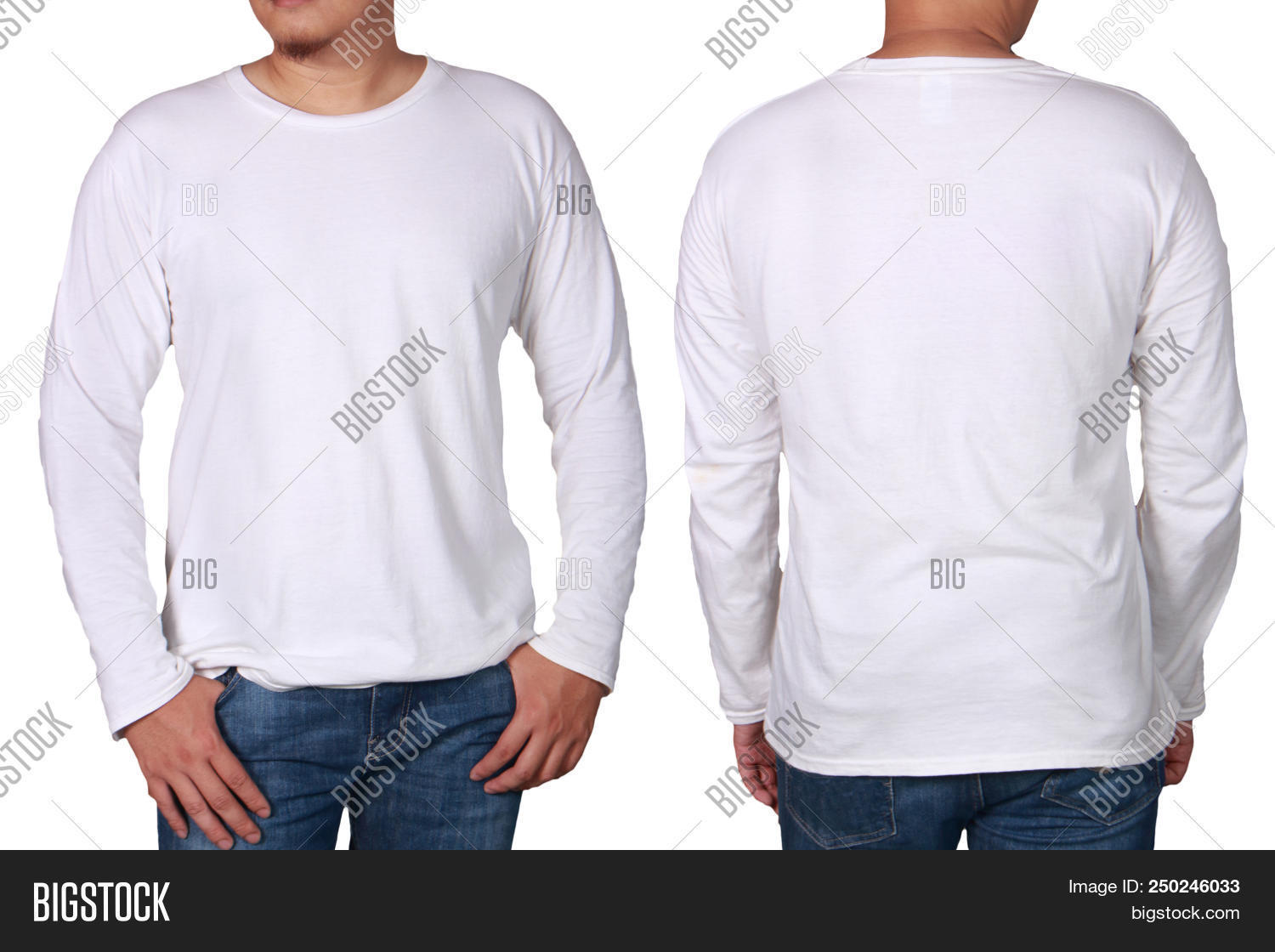 White Long Sleeved Image Photo Free Trial Bigstock
