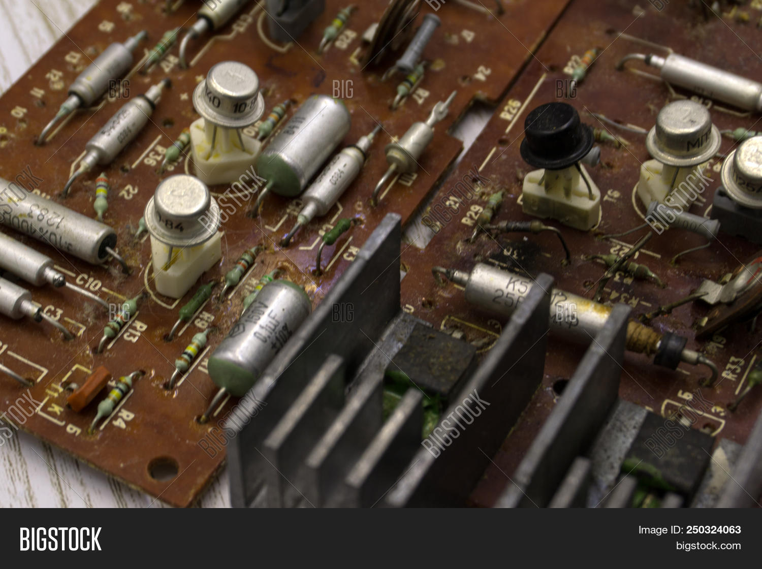 Old Soviet Radio Image Photo Free Trial Bigstock Picture Of Circuit Board Interior Electronic Components Close Up Red Backgroun