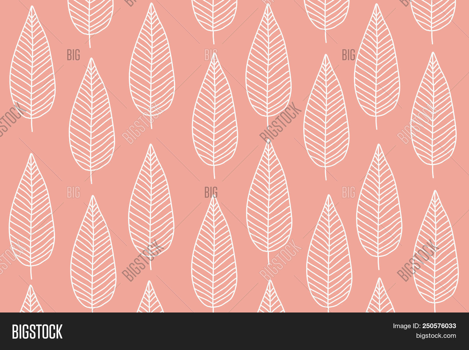 Cute White Tree Or Leaf Pattern On Pastel Pink Background Sweet Wallpaper And